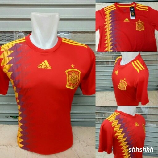 Murah JERSEY BOLA SPANYOL HOME OFFICIAL WORLD CUP PIALA DUNIA 2018