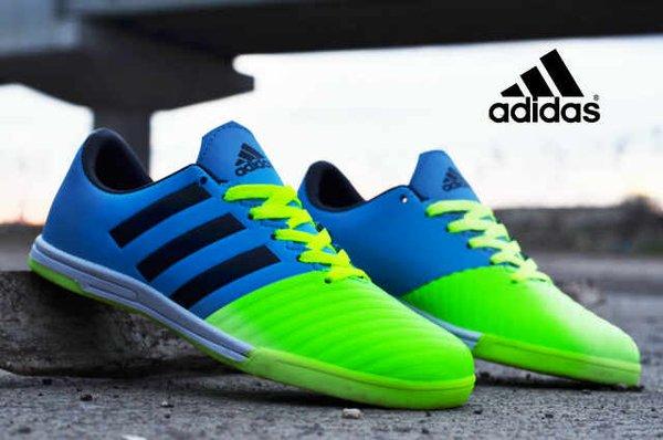 Sepatu Adidas Futsal Adizero Hijau Biru