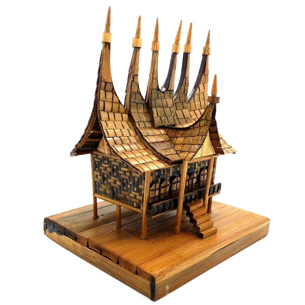 Jual Miniatur Rumah Adat Minangkabau Rumah Gadang dari