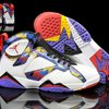 sepatu basket air jordan 7 retro white bright concord