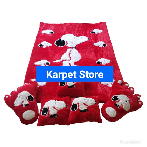 Karpet Karakter Snoopy Full set