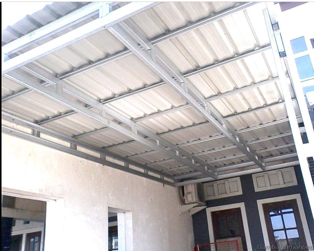 kanopi baja ringan taso jual rangka atap genteng metal garansi