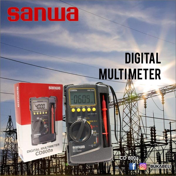Diskon Sanwa Digital Multi Tester CD 800a  600V  Terbaru