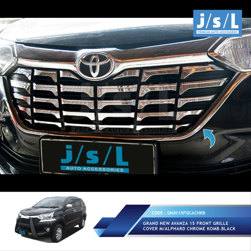 aksesoris grand new avanza 2018 all kijang innova 2013 jual asesoris mobil xenia 2015 sampai grill depan chrome toyota model alphard