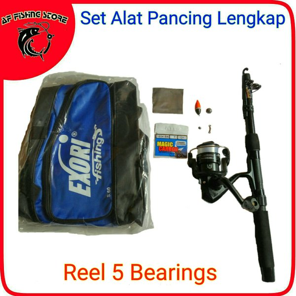 Olahraga / Outdoor / Alat Pancing / 1  Set Pancing Lengkap, Reel 5 Bearings