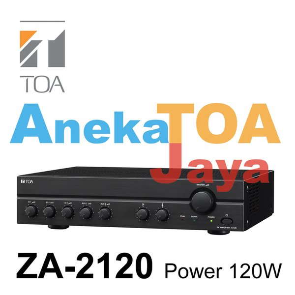NEW TOA ZA-2120 ORIGINAL AMPLIFIER MIXER POWER 120 WATT ASLI ZA2120 TERLARIS