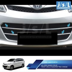 Pelindung Radiator Grand New Avanza Veloz Vs Brv Jual All Front Grille Trim Chrome Di Lapak