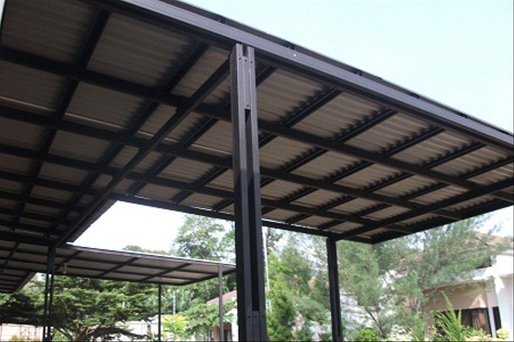 harga besi baja ringan untuk kanopi jual hitam atap spandex cat di lapak canopi
