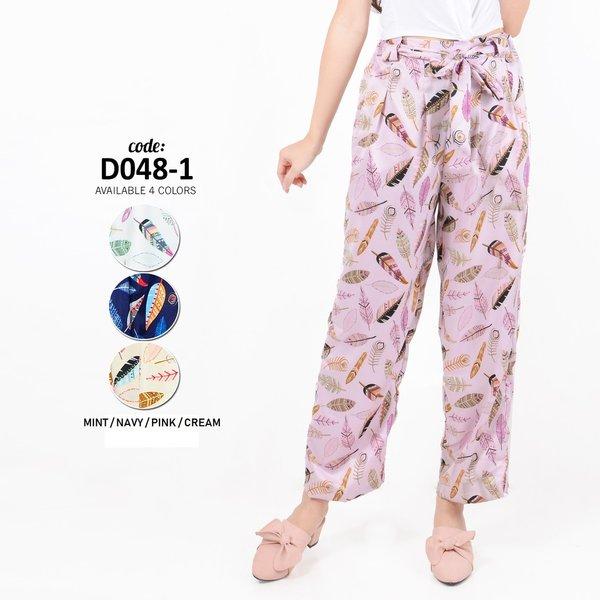 Baju Lebaran Monellina Fashion Celana Kulot Murah Wanita   Cewek Kekinian D 0481 Diskon