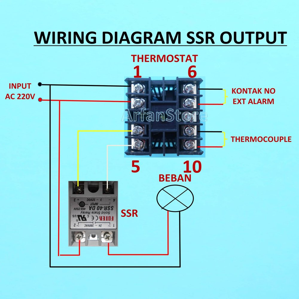 hight resolution of  ssr wiring jual thermostat pid rex c100 digital controller