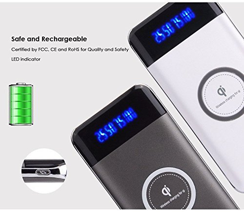 PowerBank Qi Wireless Charger 10000mAh fast charging ori
