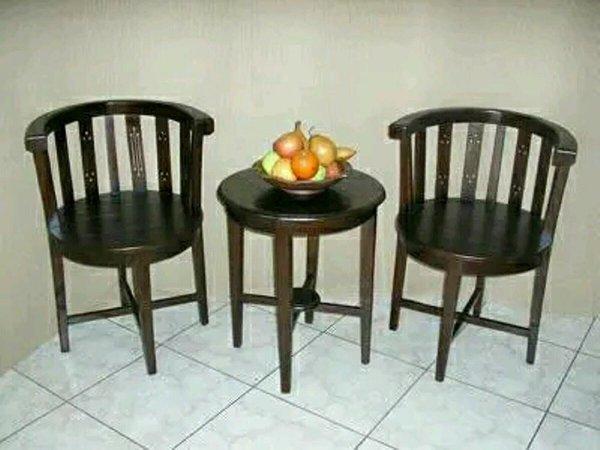 kursi teras cantik kursi teras anggur kursi tamu minimalis terbaru meja makan meja trembesi kayu jati  MG355