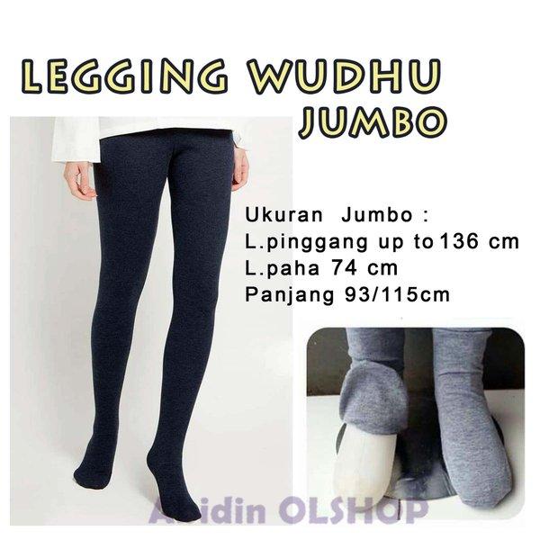 LEGGING WUDHU - ukuran JUMBO - bahan kaos - STOCKING WUDHU