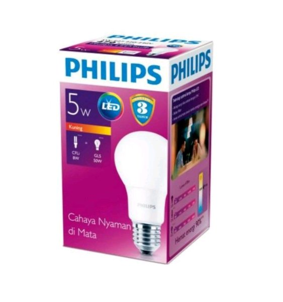 Philips Lampu LED Bulb 5W Kuning
