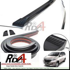 Jual Spoiler Grand New Avanza Fitur Type G Mini Ducktail Lips Bagasi Belakang Carbon