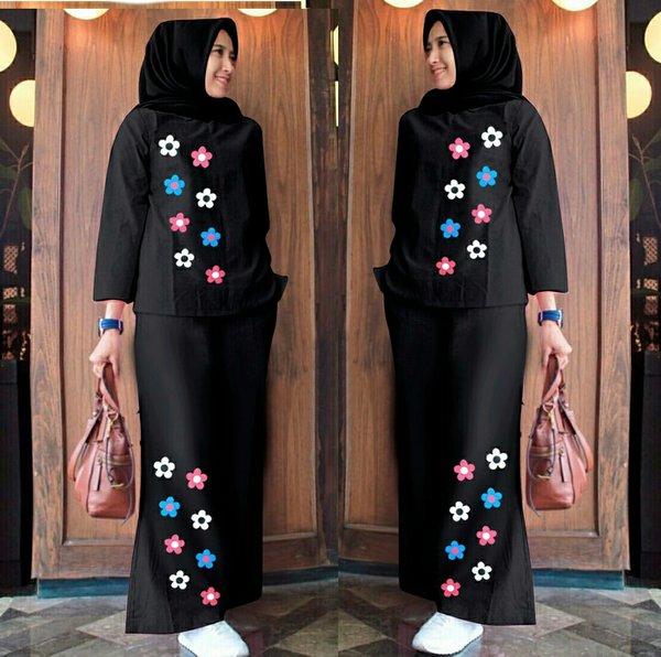 pakaian wanita fashion Muslim Setelan celana panjang kulot Mustafa ot
