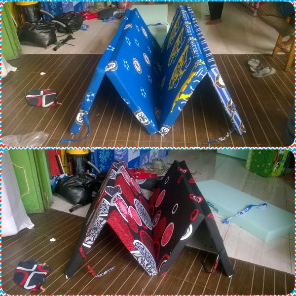 kasur lipat uk 200 x 90 x 5cm busa inoac murah new good original ter