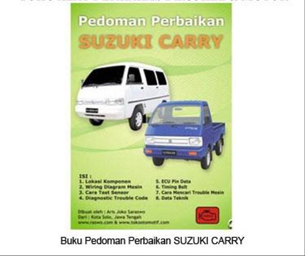 medium resolution of pedoman perbaikan mobil suzuki carry data diagram teknis