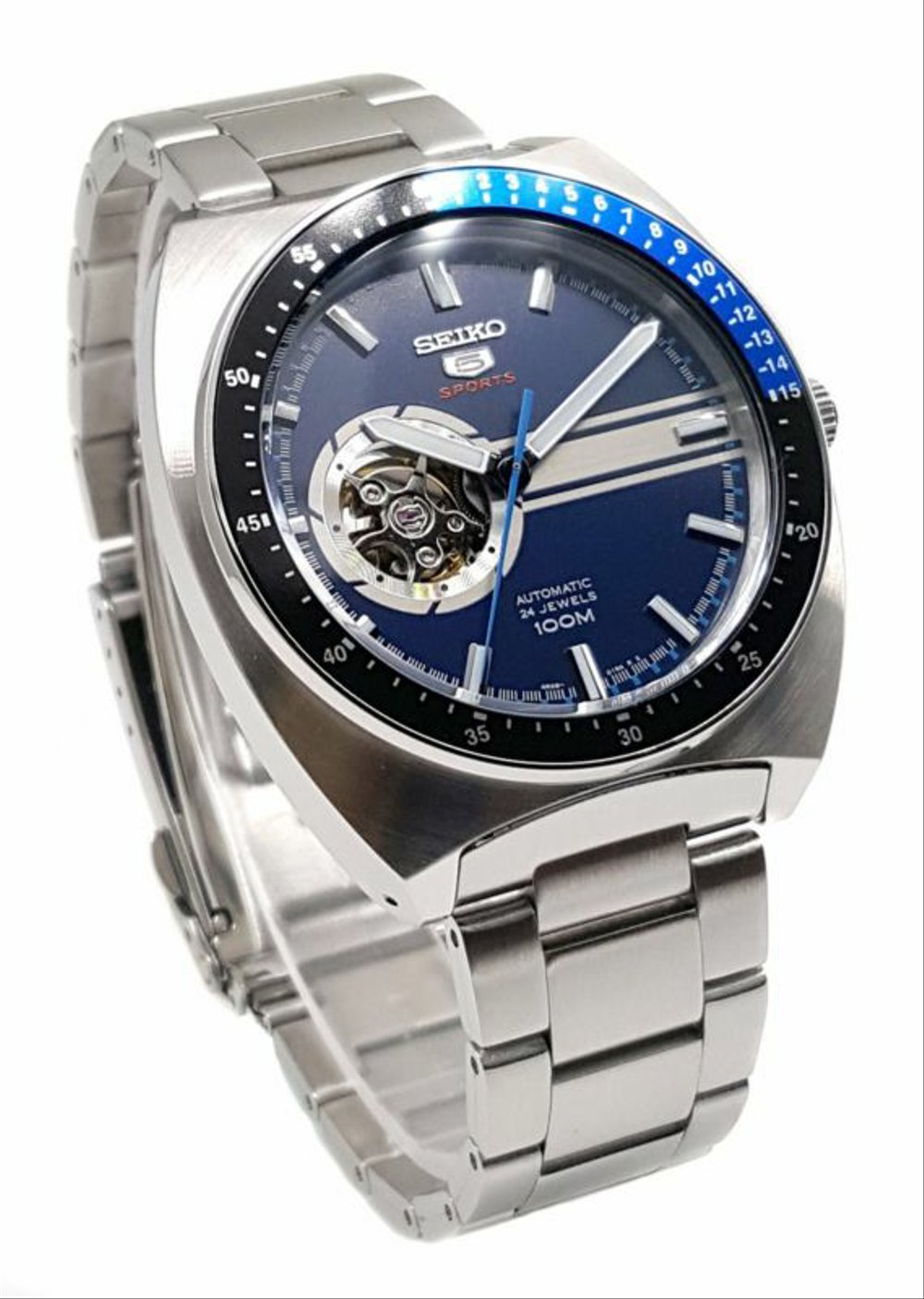 Jual SEIKO 5 Sports SSA327-K1 Automatic Open Heart Blue