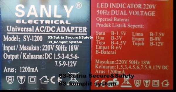 HOT Sanly SY 1200 Variable Multi Adaptor Universal 1200mA SY1200 SY 1200