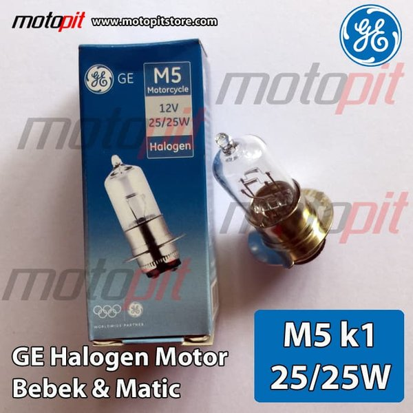 GE General Electric Halogen Motor Lampu M5 kaki 1 25W