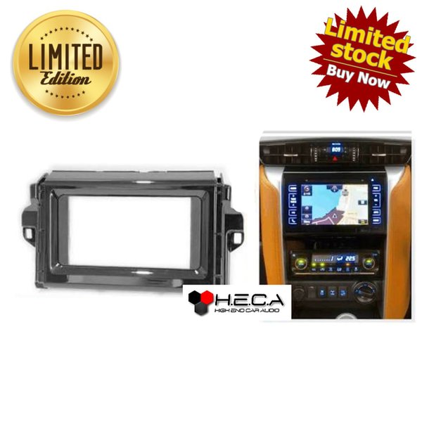 alarm motor Frame OEM-Fit Double din Tape Audio Head Unit TOYOTA FORTUNER 2015 ready stok