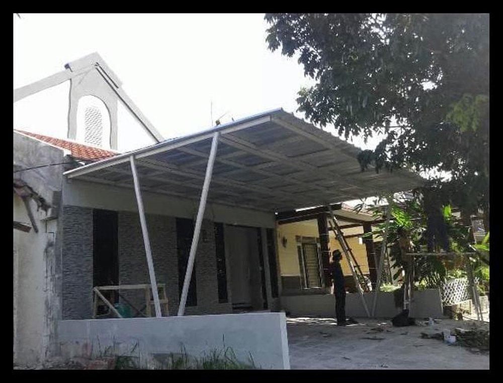 canopy baja ringan di jakarta jual murah meriah kanopi atap spandek model standar