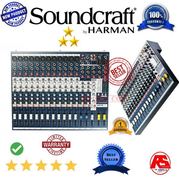 Harga Murah !!! Soundcraft Efx 12 Audio Mixer 12 Channel