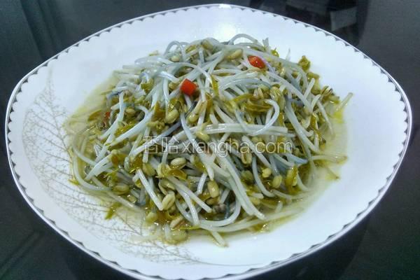 素炒綠豆芽的做法_菜譜_香哈網