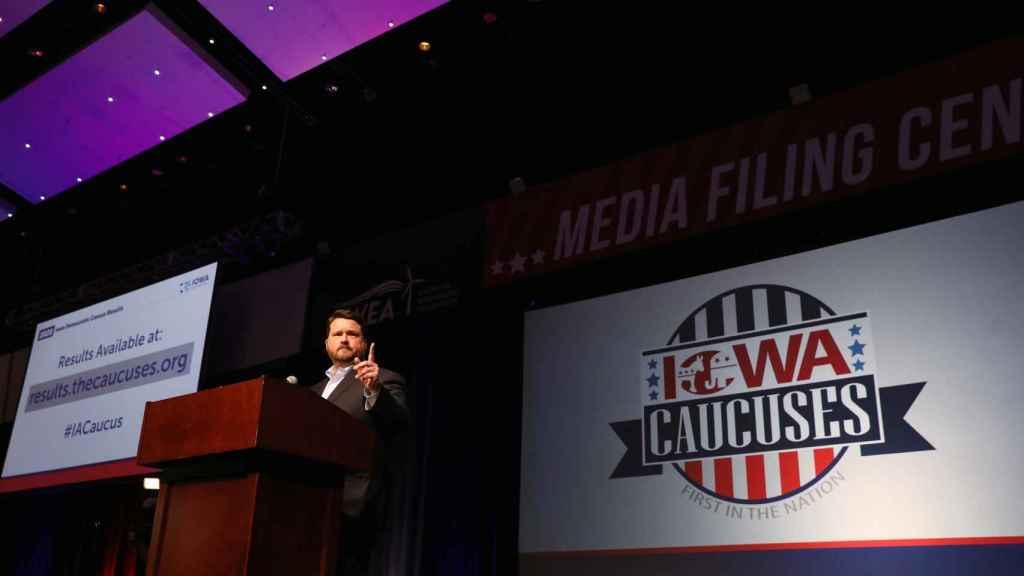 Presentación de los resultados del 'caucus' de Iowa