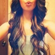 pretty girl brown hair duck
