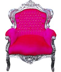 chair, decor, furniture, home, hot pink - image #442046 on ...