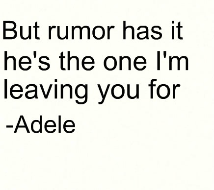Don T Tread On Me Iphone 6 Wallpaper Adele Music Quote Rumor Has It Song Image 454108 On