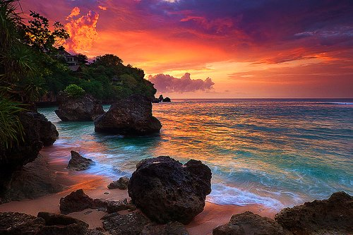 beach beautiful colors landscape