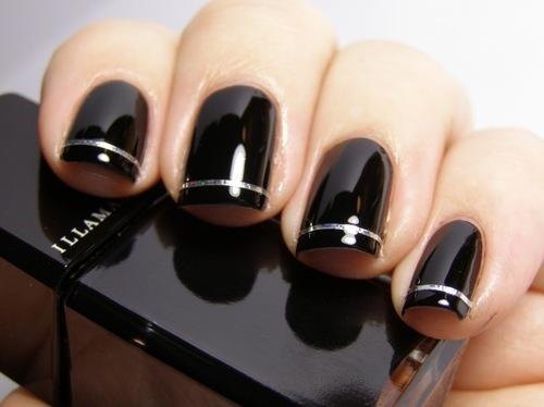 Black Cute Nail Art Polish Nails