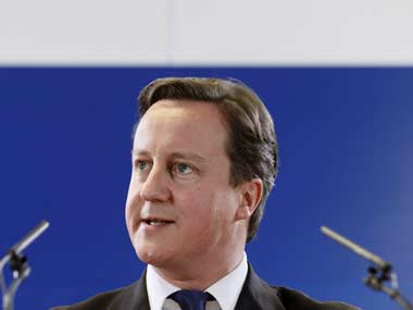 British PM David Cameron condemned the beheading of a US aid worker. Reuters