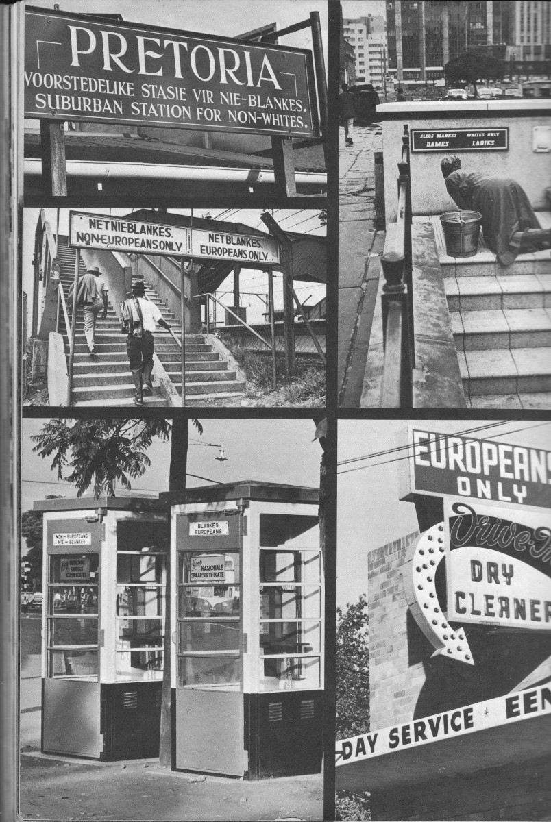 Segregation in the 1950's with signs all over the land controlling everything that separated Blacks from Whites.