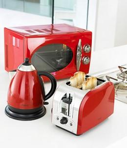 red kitchen appliances islands uk