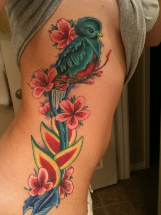 little masterpiece and the lil bird just sets this ladies tattoo off,