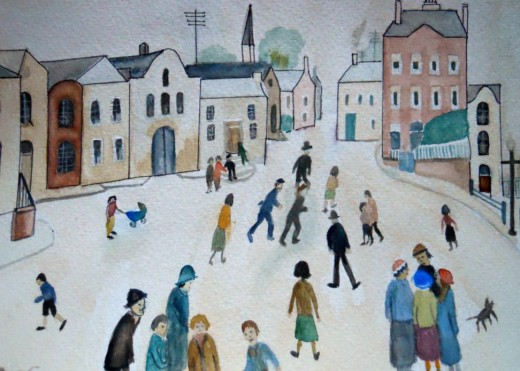 My sister is learning by copying a Lowry.Can one learn to write a poem by copying? Yes,copy the rhythm of a song or a ballad.That can be a help to start you off