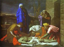 The lamenation of Christ by Poussin