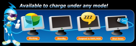 ASUS Ai Charger; Charge your device even if your PC is OFF or suspended