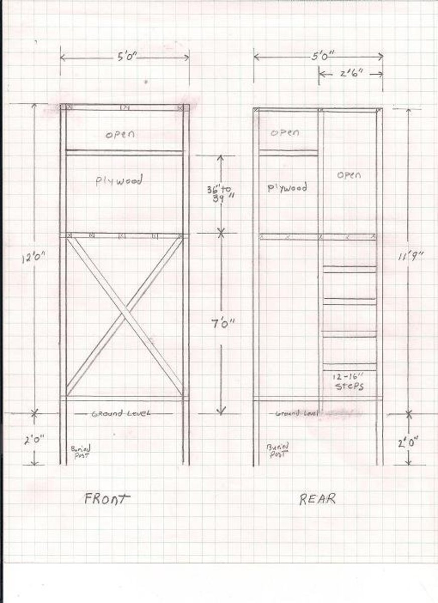 DIY Wood Design: Deer stand plans 4x6