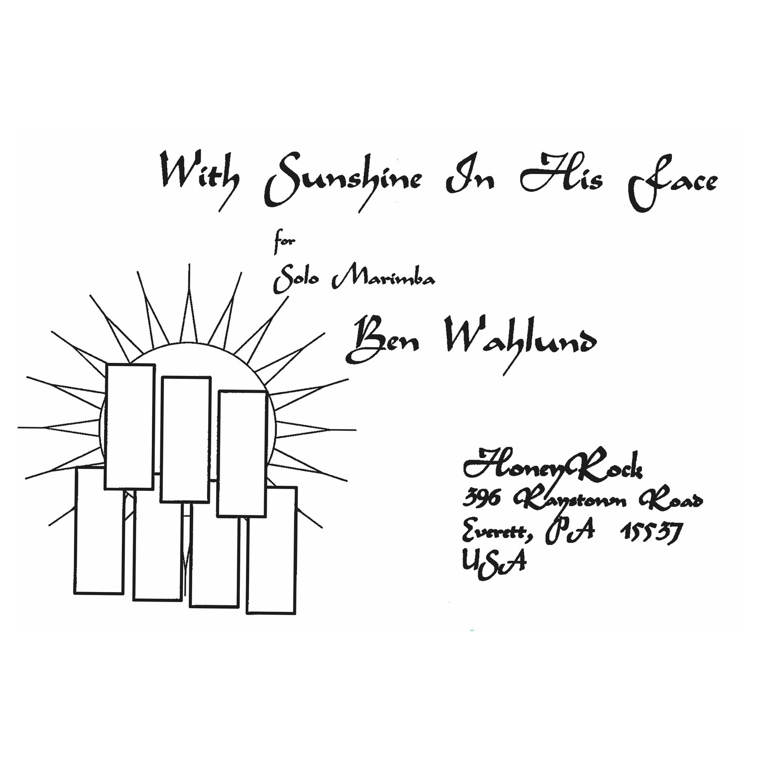With Sunshine In His Face By Ben Wahlund