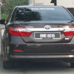 All New Toyota Camry Malaysia Vellfire 2017 Spyshot Hybrid Spotted On The Road Image 257549