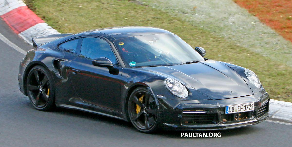 SPYSHOTS: Porsche 911 Turbo 'Ducktail' seen testing - paultan.org