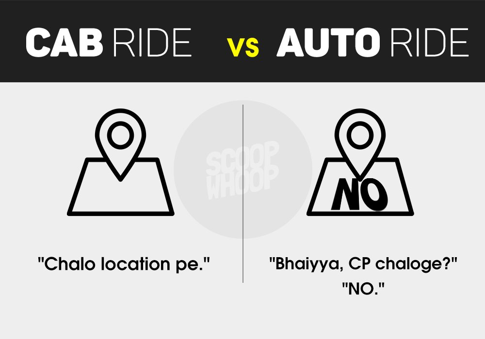 These Hilarious Differences Between Cab Rides & Auto Rides