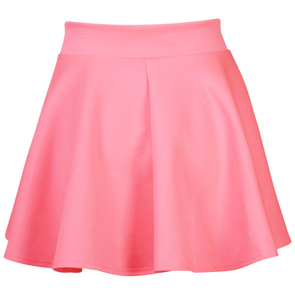 Glamorous Womens Neon Pink Skater Skirt Neon Pink