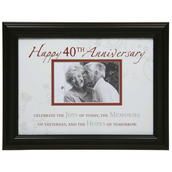 Moments 40th Anniversary Photo Frame IWOOT