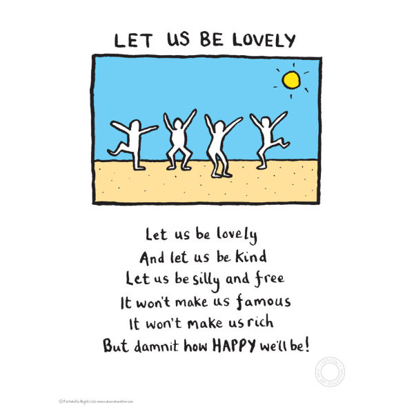Edward Monkton Let Us Be Lovely Limited Edition Fine Art